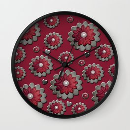 Red for my valentine Wall Clock