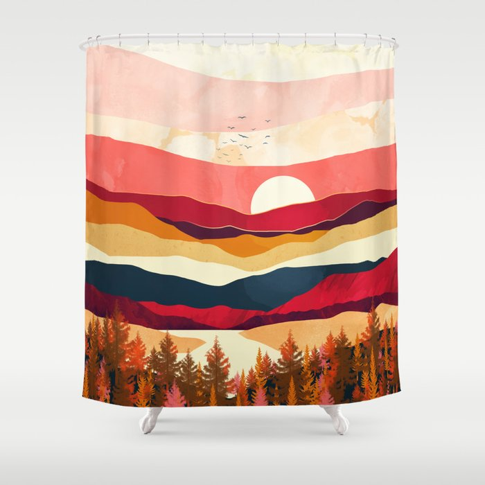Scarlet Spring Shower Curtain