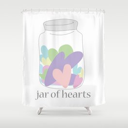 Jar of Hearts Shower Curtain
