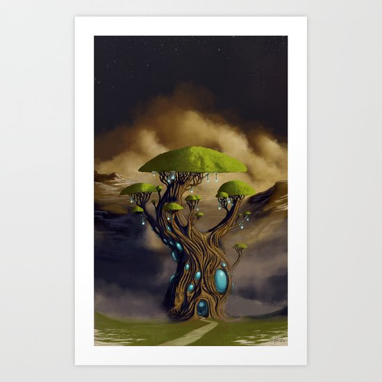 The Great Portal Tree Art Print