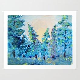 Abstract Trees Art Print