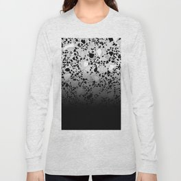 Concrete and Marble Mix Black Gradient Long Sleeve T-shirt