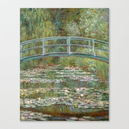 Monet, Water Lilies and Japanese Bridge, 1854 Canvas Print