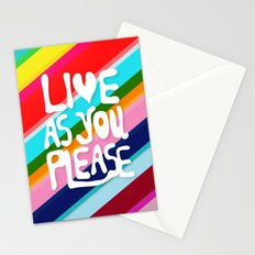 Live as you Please Stationery Cards