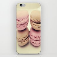 macaroons iPhone & iPod Skins featuring macaroons by  Alexia Miles photography