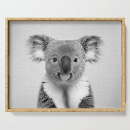 Koala 2 - Black & White Serving Tray