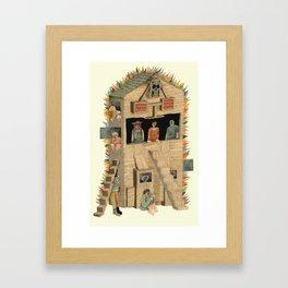 Burning Club House Framed Art Print