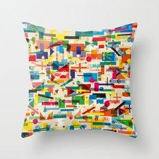 Olympic Village Throw Pillow