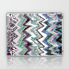 Cool Blues Zigzags Abstract Laptop & iPad Skin