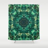 matrix Shower Curtains featuring Matrix Evolution by Scott Aichner