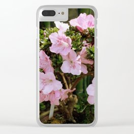 Pink Tree Clear iPhone Case