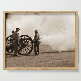 Civil War Era Cannon Firing Serving Tray
