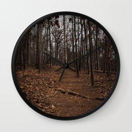 Warm Georgia Woods Wall Clock