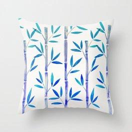 Bamboo Stems – Indigo Palette Throw Pillow