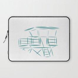 Lifeguard Tower Line Art Laptop Sleeve
