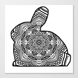 Bunny Mandala #1 Canvas Print