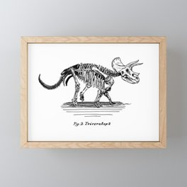 Figure Two: Triceratops Framed Mini Art Print