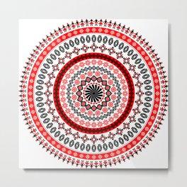 Mandala Romanian traditional symbols Metal Print