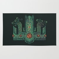 lovecraft Area & Throw Rugs featuring The Crown of Cthulhu by Hector Mansilla