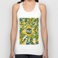 brazil Tank Tops featuring Abstract Brazil by Danny Ivan
