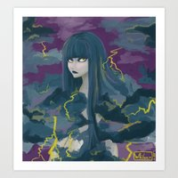 Cloud Hair Art Print
