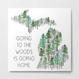 Michigan Woods Metal Print