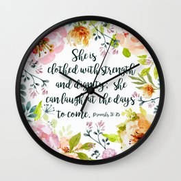 She can laugh at the days to come Wall Clock