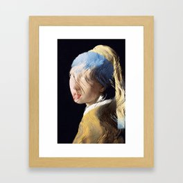 Girl With a Sorted Earring Framed Art Print