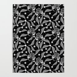 White vintage lace . Poster