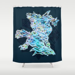 Zinogre Shower Curtain