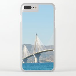 Rio Antirrio Bridge Clear iPhone Case
