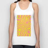 yellow pattern Tank Tops featuring Pattern yellow wave by LoRo  Art & Pictures