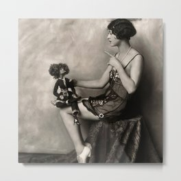Naughty Dolly Metal Print