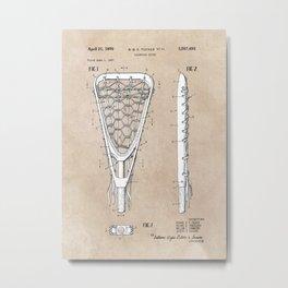 patent art Tucker Lacrosse stick 1967 Metal Print