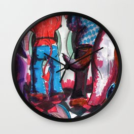 sexy monsters Wall Clock