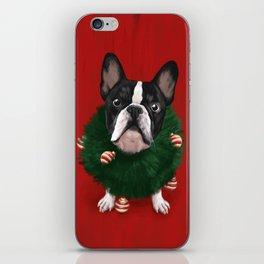 Christmas Bulldog iPhone Skin