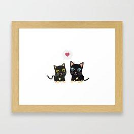 Cats in Love Framed Art Print