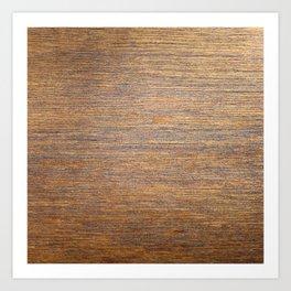 Rustic brown gold wood texture Art Print