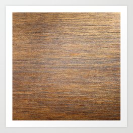 Rustic brown gold wood texture Art Print