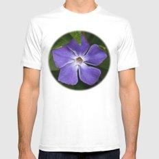 Purple Pinwheel MEDIUM White Mens Fitted Tee