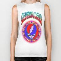 grateful dead Biker Tanks featuring Grateful Dead #10 Optical Illusion Psychedelic Design by CAP Artwork & Design