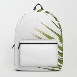 Tropical Palm Green Plant Leaf Minimalist Modern Photo Backpack