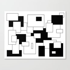 Squares - black and white. Canvas Print