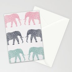 Elephant Pattern Stationery Cards