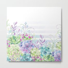 Summer Succulents Metal Print