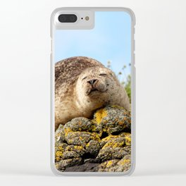 Seal at Dunvegan Castle, Scotland Clear iPhone Case