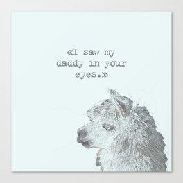 Daddy Lama Canvas Print