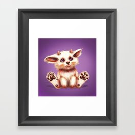 SQUEE! The Horned Foxling Framed Art Print