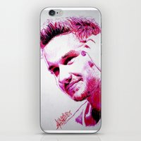liam payne iPhone & iPod Skins featuring Liam Payne by Drawpassionn