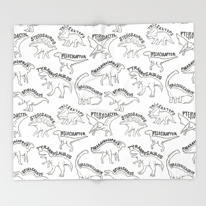 Dinosaurs Throw Blanket By Meghanwallace Society40 Amazing Dinosaur Throw Blanket